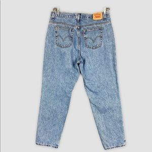 Vintage Levis 550 Light Wash High Waist Mom Jeans